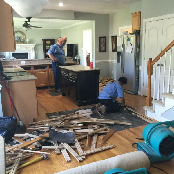 ripping out the floors
