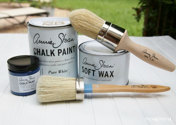Annie Sloan Chalk Paint and wax - Pure White and Napoleonic Blue
