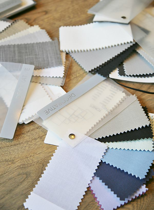 Pella Fabric swatches