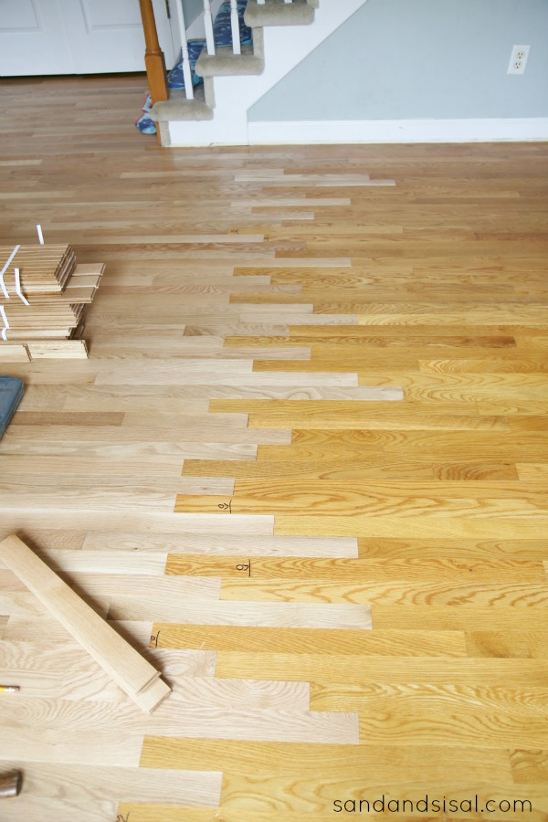 Feathering in oak flooring