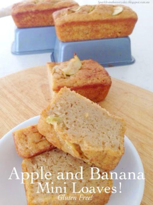 Gluten Free Apple Banana Mini Loaves