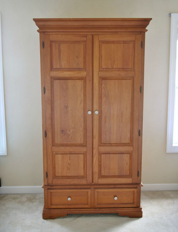Pine armoire makeover - before pic