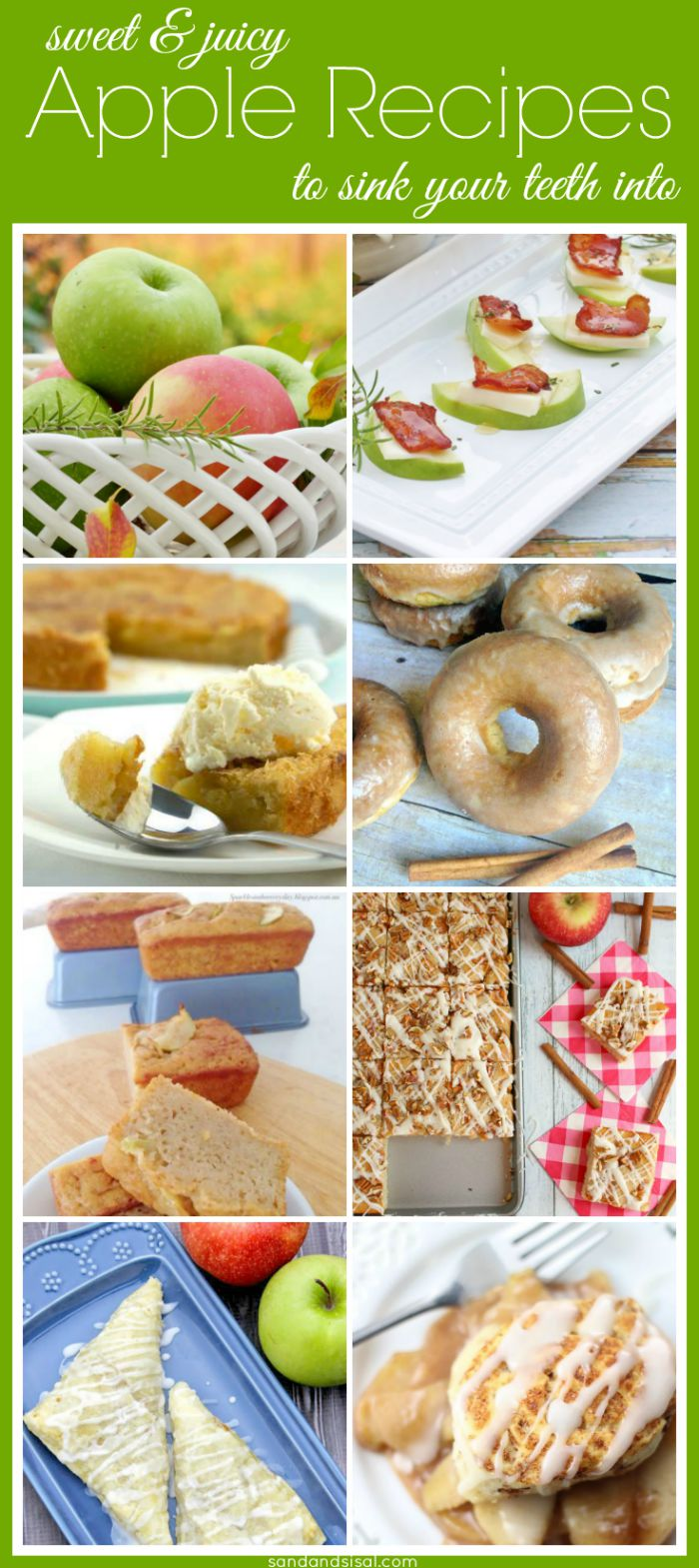 Sweet & Juicy Apple Recipes to Sink Your Teeth Into- These are easy to make and taste oh so good! Perfect for fall!