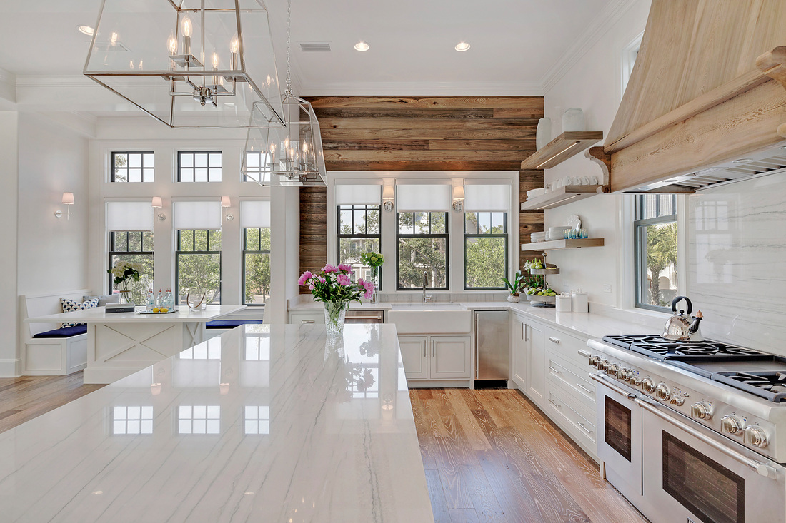 White Kitchen Oak Floor choosing hardwood floor stains