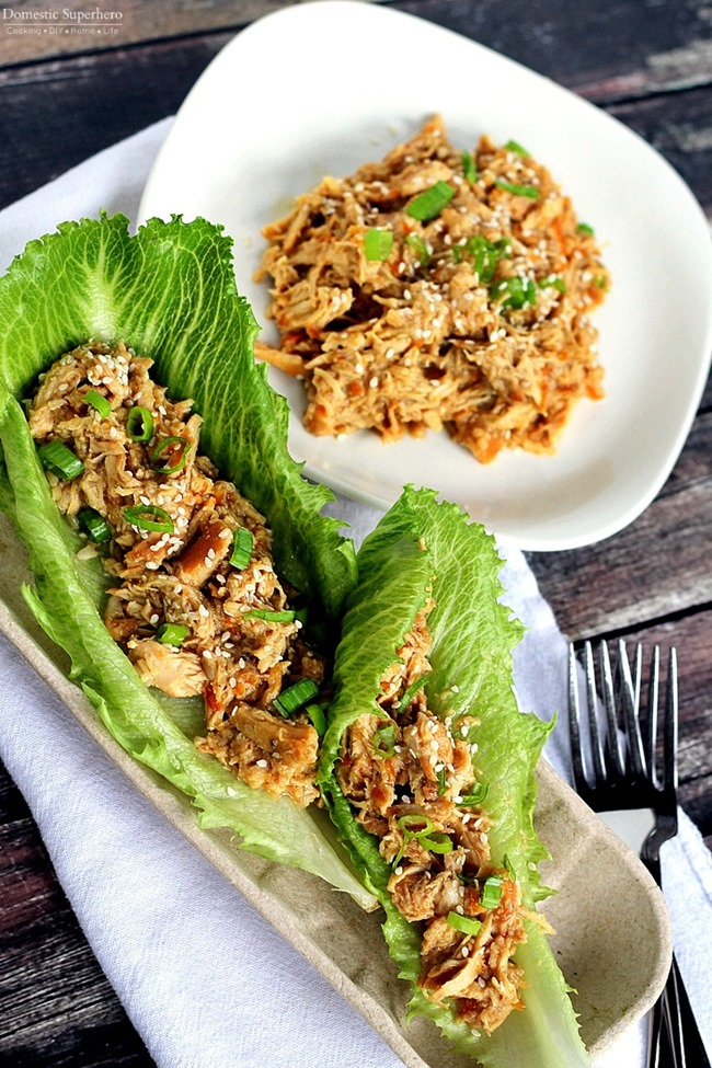Slow-Cooker-Orange-Chicken-Lettuce-Wraps