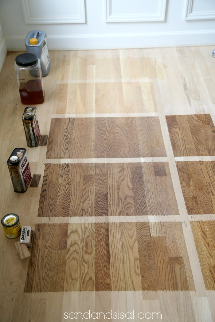 Choosing hardwood floor stains