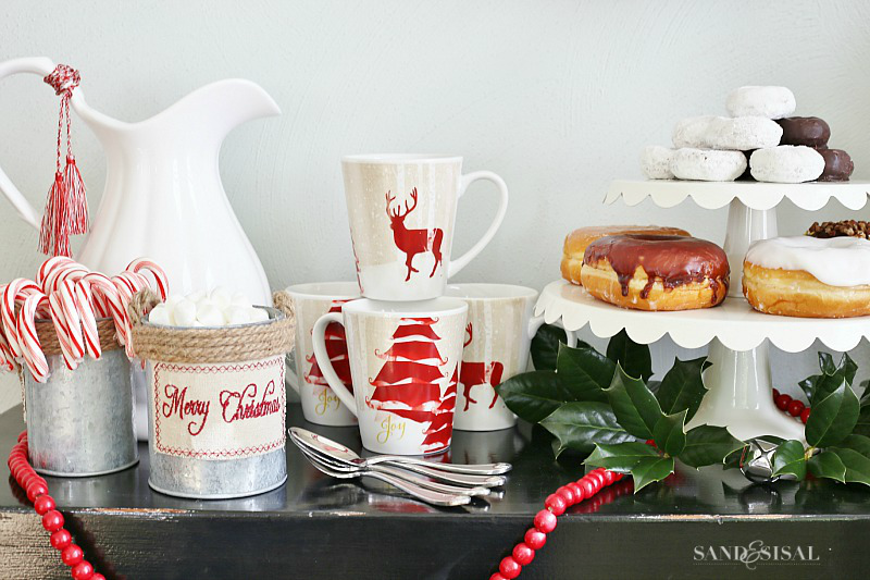 Christmas Hot Chocolate + Donut Station