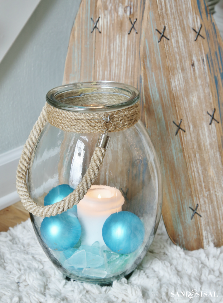 Coastal Christmas - Rope Lantern