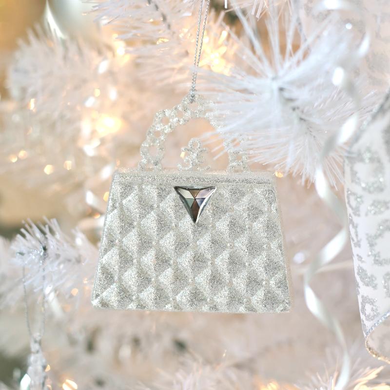 Crystal Purse Ornament. A Winter Wonderland Christmas Tree Sand And Sisal - Purse Christmas Ornaments - Best Purse Image Ccdbb.Org