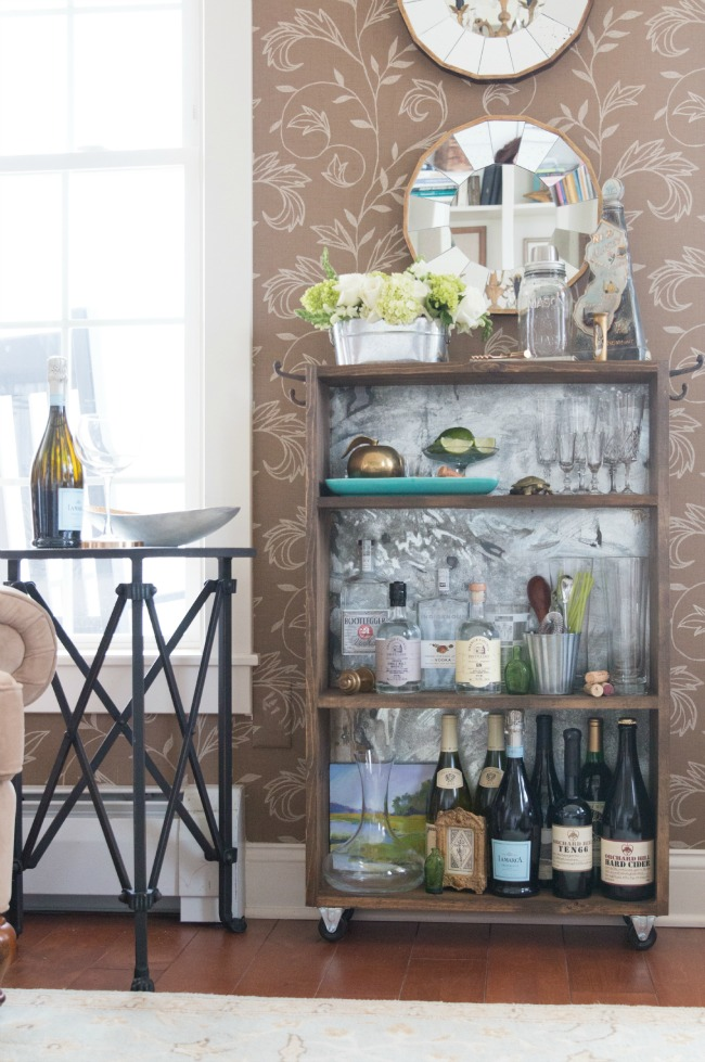 DIY Rustic Bar Cart