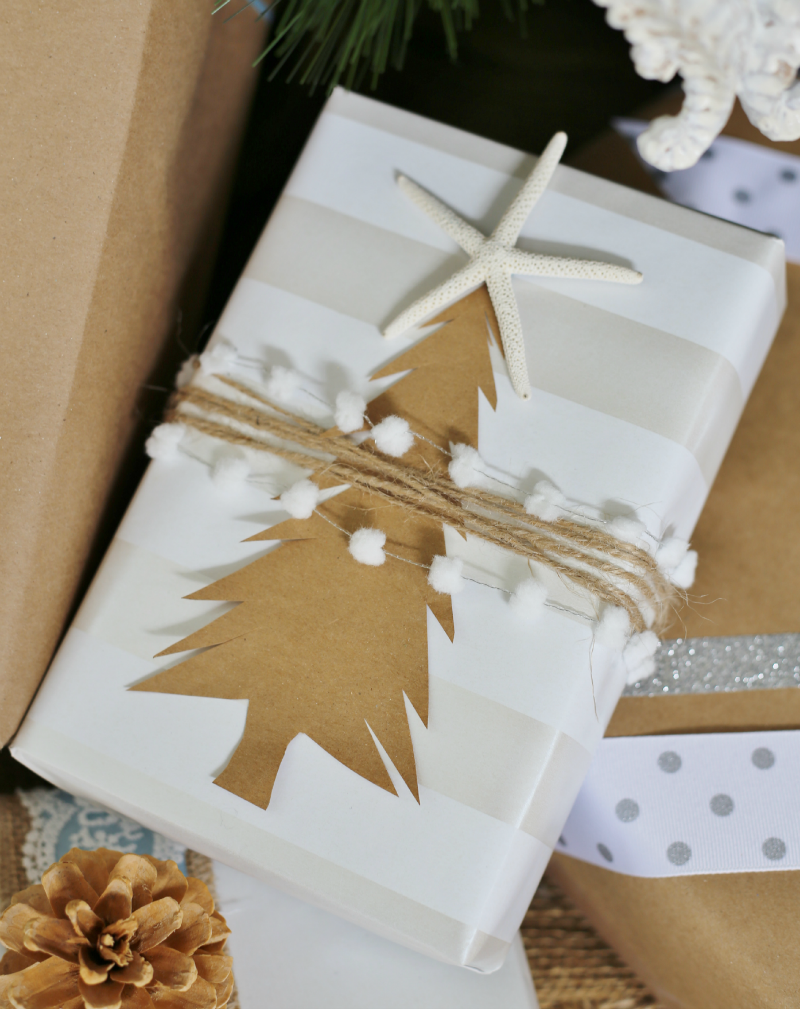 Gifts Wrapping & Package: 20 Clever Giftwrap Ideas Using Simple Brown or White Paper Rough Luxe Lifestyle. Find this Pin and more on GIFT WRAP by DIANA BUFFINGTON. Love the cohesive look of these Christmas gift wrapped presents—great embellishments that add a .