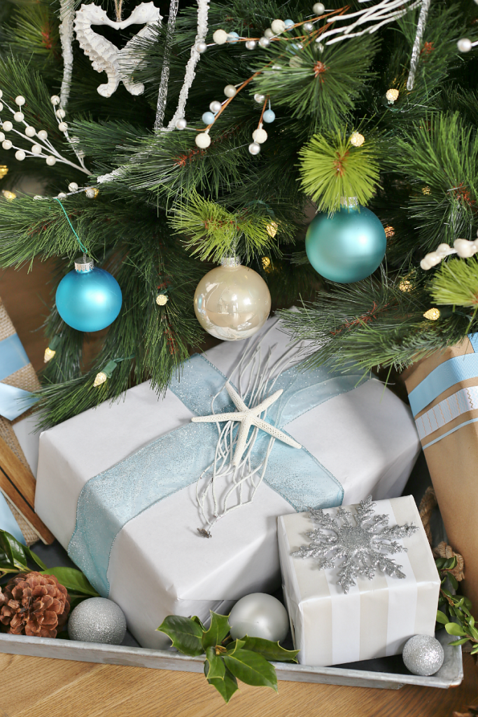 Holiday Gift Wrapping Ideas - Coastal Christmas