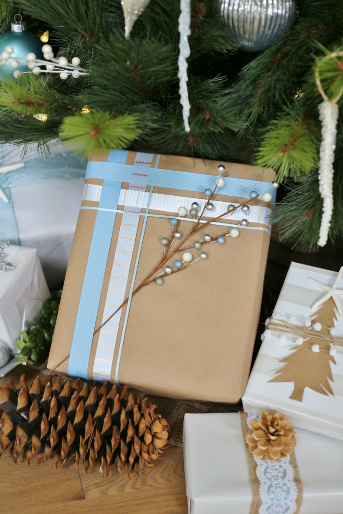 Holiday Gift Wrapping Ideas - Woven Ribbons