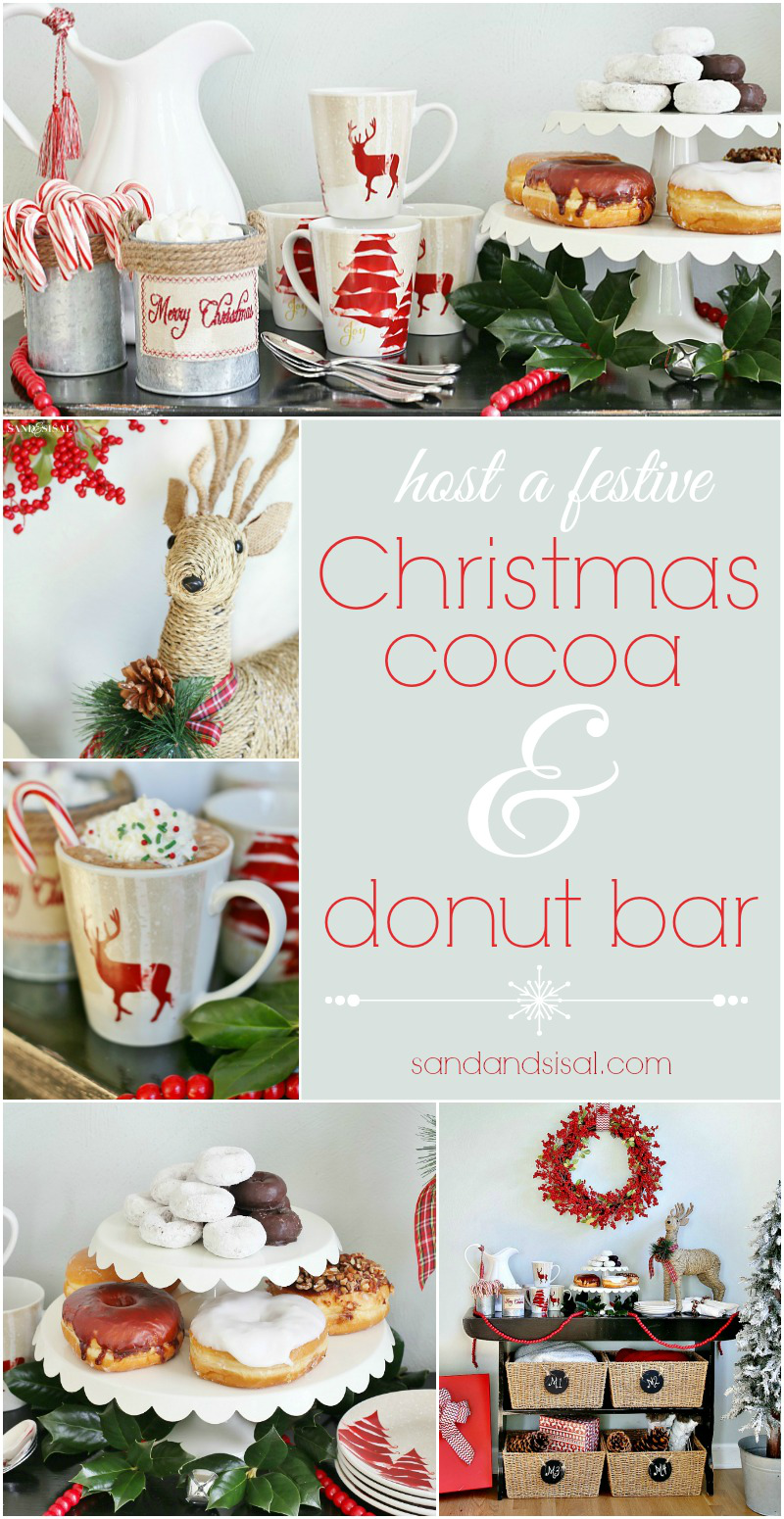 Host a festive Christmas Cocoa + Donut Bar