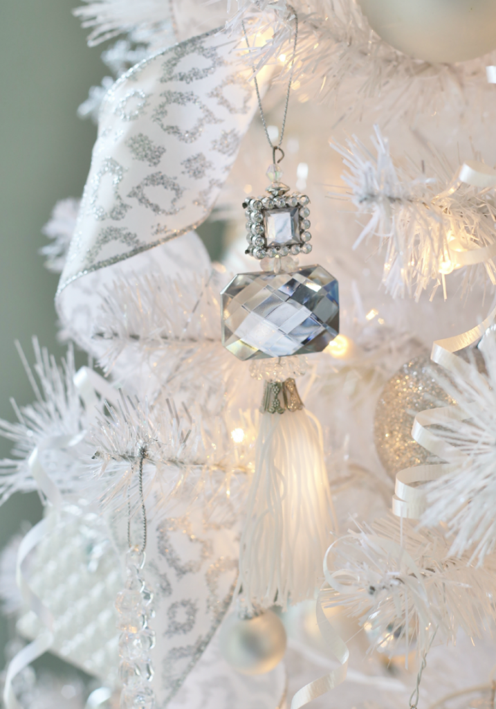 Rhinestone Tassel Ornament - Teen Glam Christmas Tree