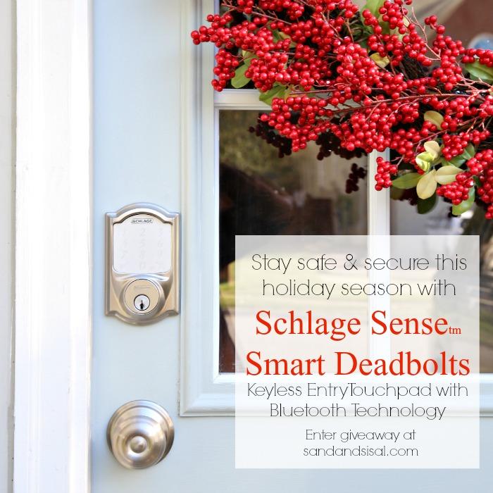 Schlage Sense Smart Deadbolt Handleset Giveaway