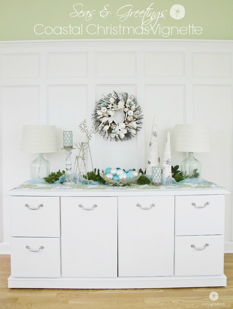 Seas and Greetings - Coastal Christmas Vignette and Decor