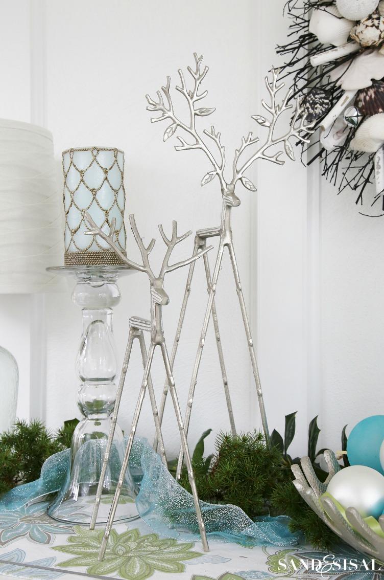 Silver Reindeer - Coastal Christmas