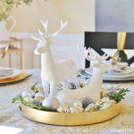 Christmas Centerpiece - Reindeer and Ornaments - cropped