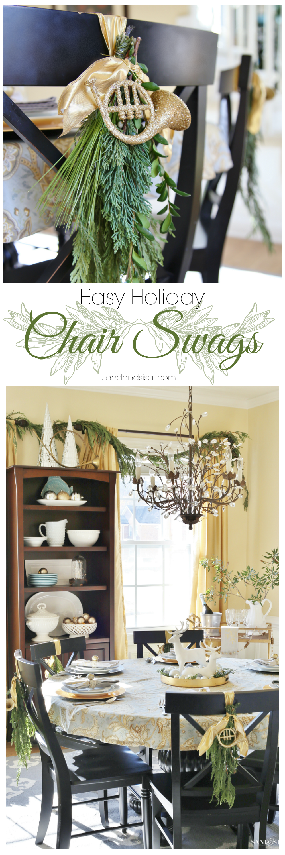 Easy Holiday Chair Swags