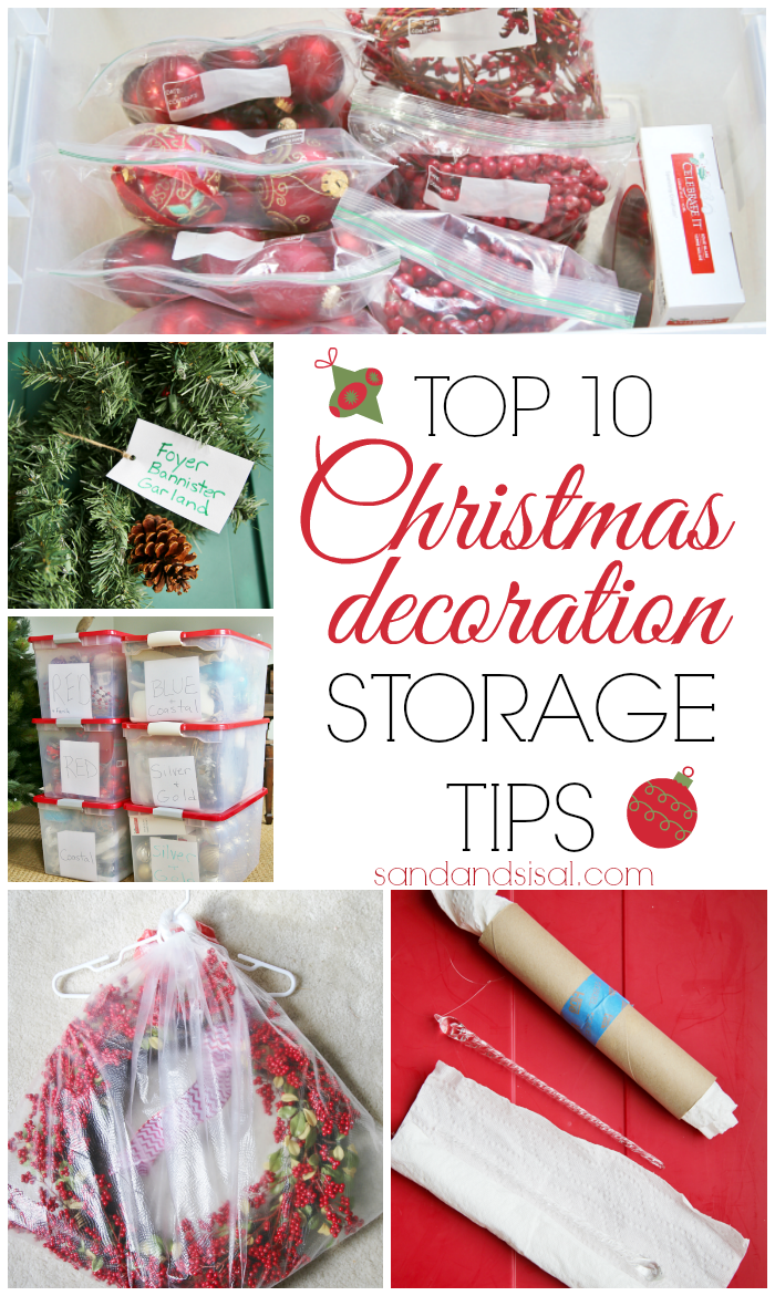Christmas decoration storage tips sand and sisal for Sisal decoration