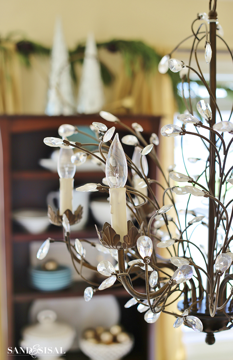 Twig and Crystal Chandelier