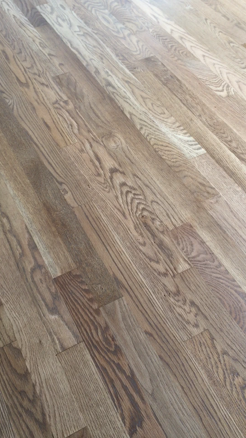 Weathered oak floor reveal more demo