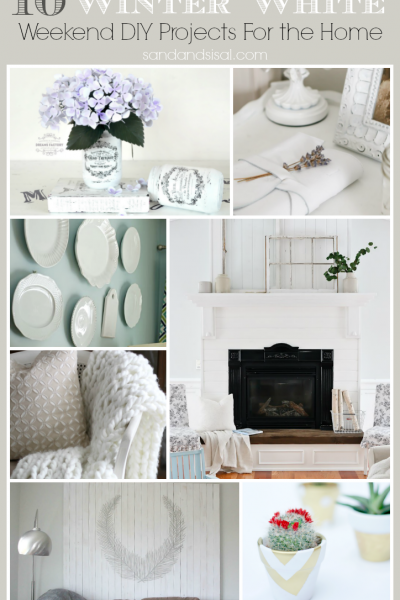 10 Winter White Weekend DIY Projects and Decor Crafts for the Home
