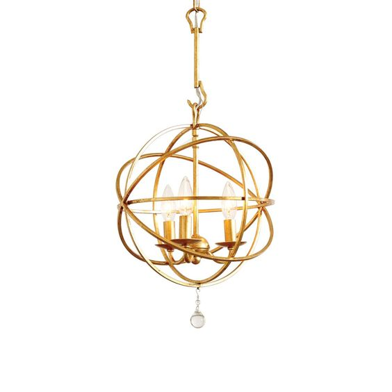 Ballard Designs Gold Orb Pendant Light