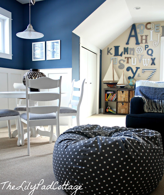 Benjamin Moore's Newburyport Blue - Playroom. Tried and True Nautical Blue Paint Colors