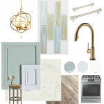 Coastal Kitchen Design Board
