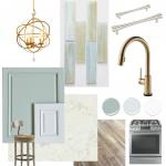 Coastal Kitchen Design Board