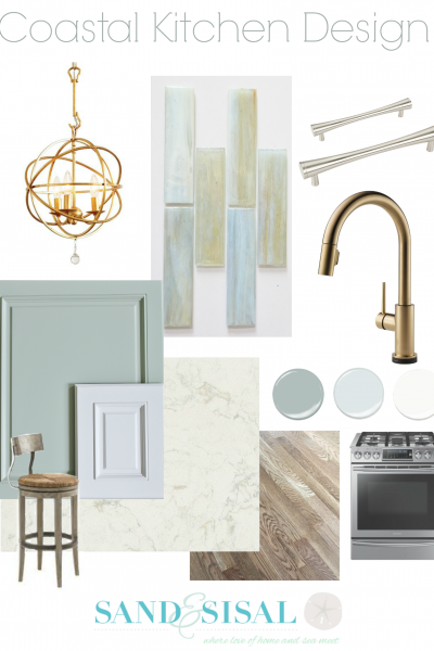 Our Coastal Kitchen Design Board
