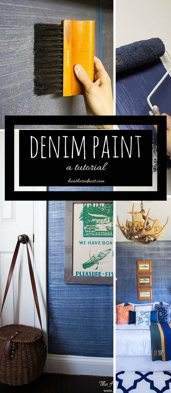 Denim Faux Finish Tutorial