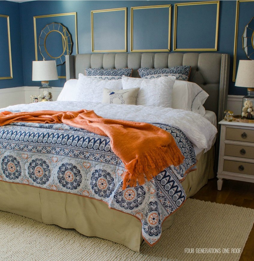 Master Bedroom - SW Smokey Blue - Tried and True Nautical Blue Paint Colors