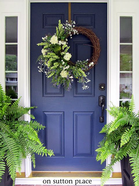 Sherwin williams naval blue front door tried and true nautical blue