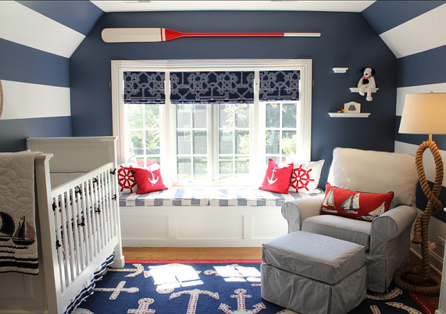 Newbury Port Blue Nursery - Tried and True Nautical Blue Paint Colors