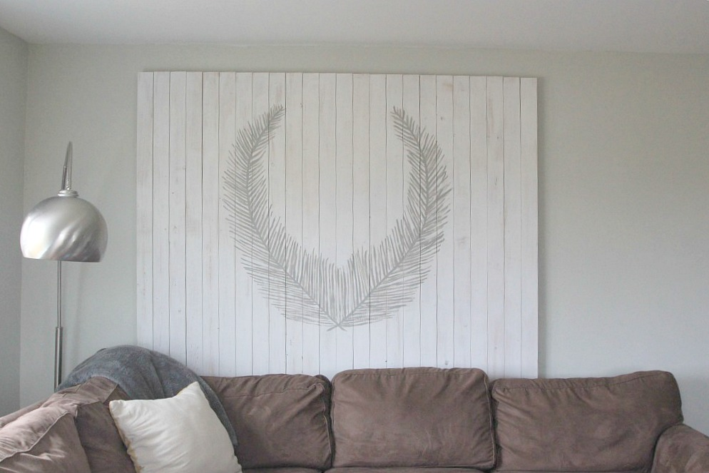 White Washed Pallet Art