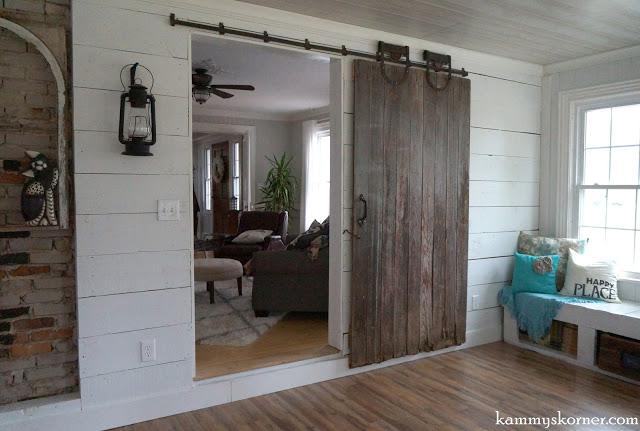 sliding barn door sunroom