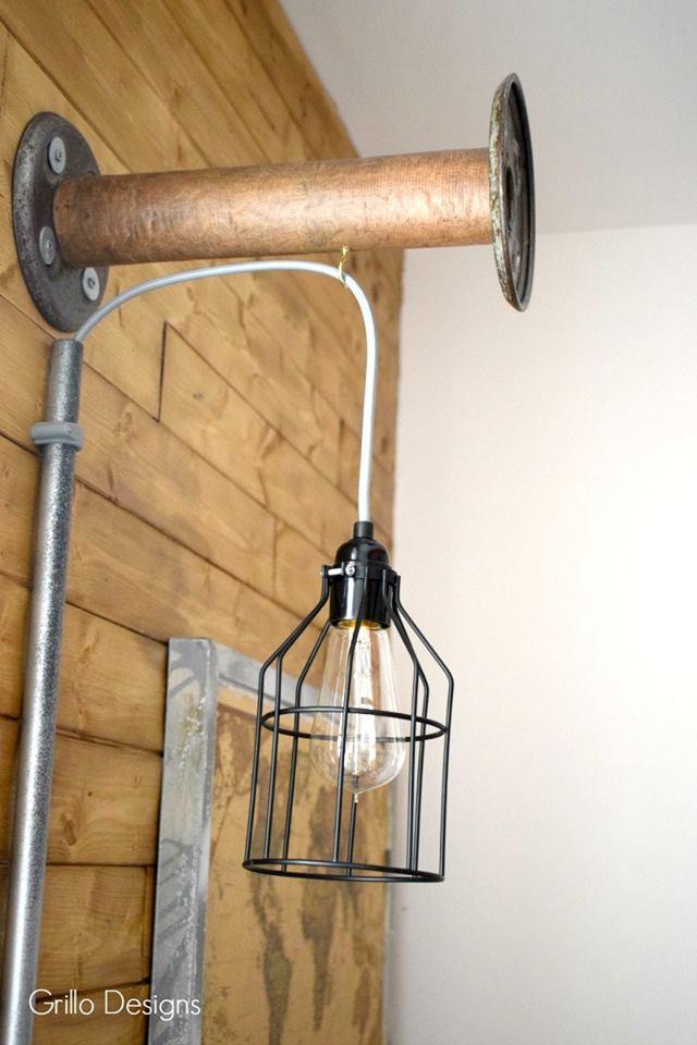 DIY Industrial Bobbin Light