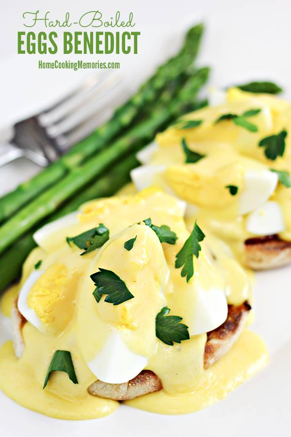 Hard Boiled Eggs Benedict