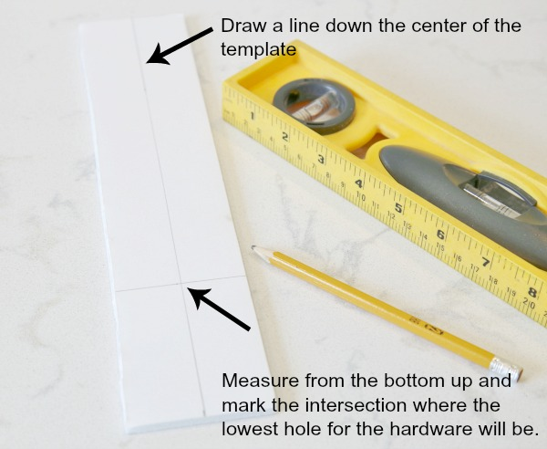 DIY Cabinet Hardware Template - Hardware Installation Made Easy!