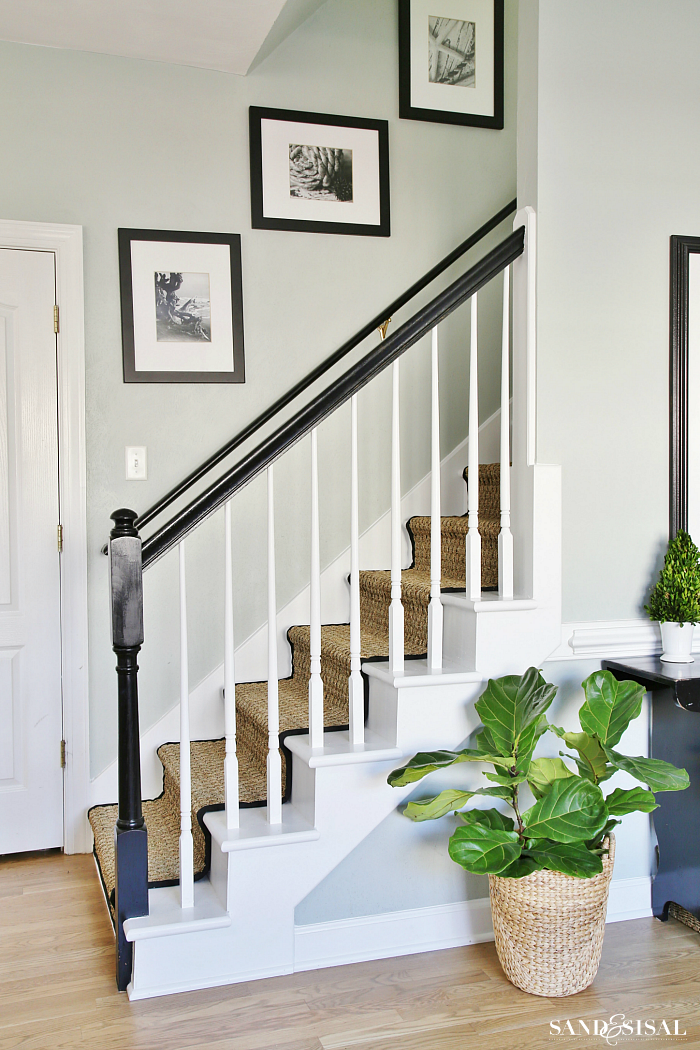 How To Paint A Staircase Black And White