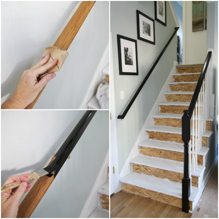 Staining Stair Railing