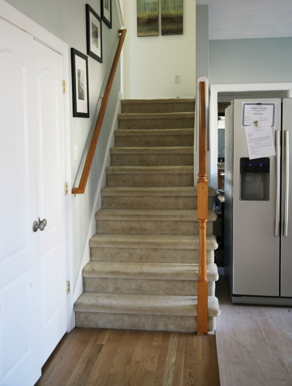 carpeted staircase - before pic