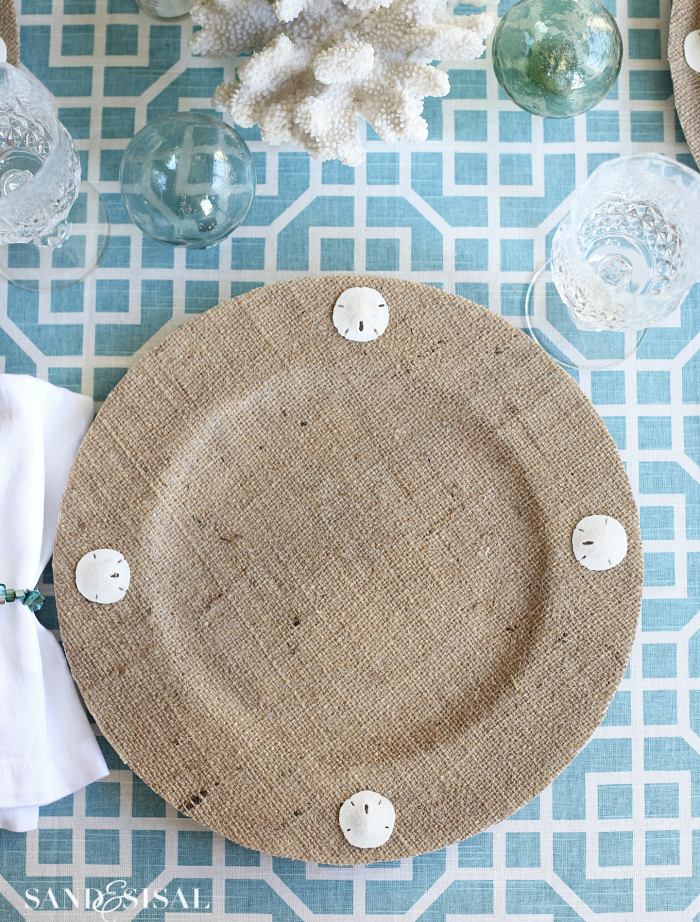 Coastal Burlap Plate Chargers