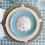 DIY Coastal Burlap Chargers + Tablescape