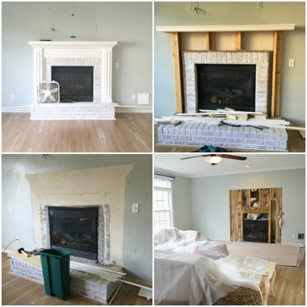 Fireplace demolition