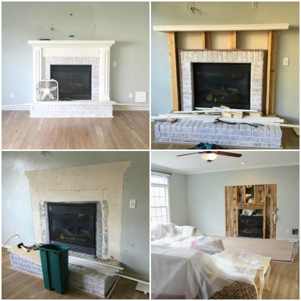 Fireplace demolition