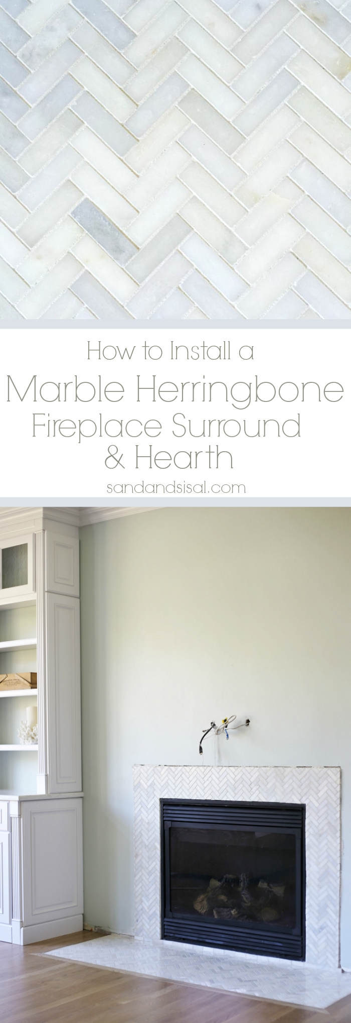 How To Install A Pedestal Sink Orc Week 3 Our Home: How To Install A Marble Herringbone Fireplace Surround And